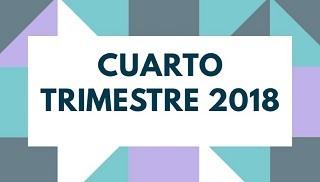 CUARTO TRIMESTRE 2018